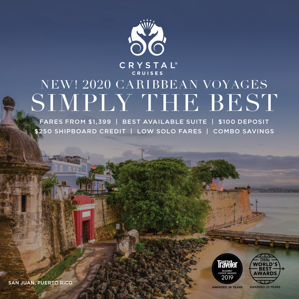 SIMPLY THE BEST NEW CARIBBEAN VOYAGES! OCTOBER – NOVEMBER 2020 Best available savings of up to 80% on select voyages departing from Miami and San Juan.