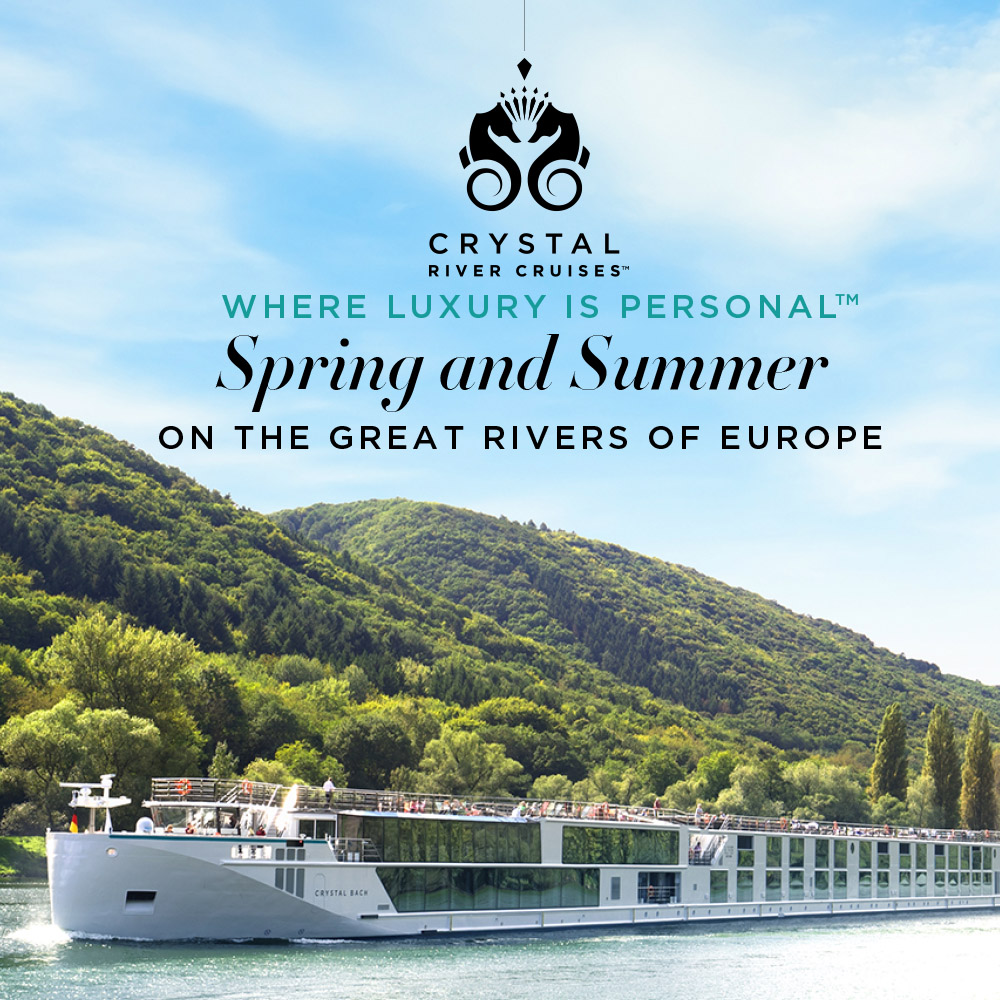 Crystal Cruises: Spring and Summer on The Great Rivers of Europe Book By JAN 8 2020 to redeem this offer